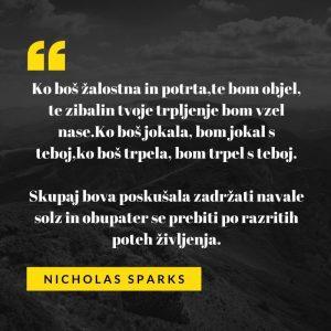 Ljubezenski verz Nicholasa Sparksa