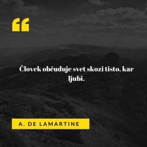 Ljubezenski verz francoskega pesnika, pisatelja in politika A. De Lamartineja