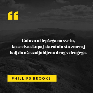 Ljubezenski verz ameriškega avtorja Phillipsa Brooksa