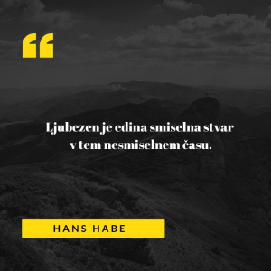 Ljubezenski verz madžarskega avtorja Hansa Hebeja