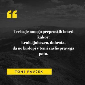 Pesem Toneta Pavčka je bila objavljena v knjigi Ena sama beseda