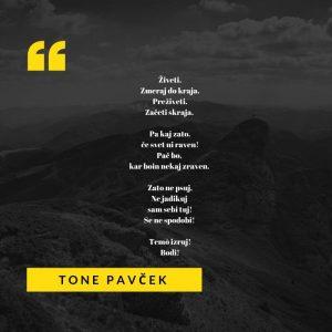 Pesem Toneta Pavčka iz zbirke Zapisi