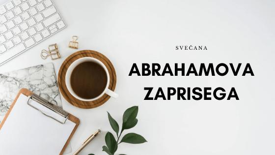Svečana prisega za Abrahama