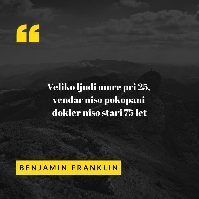 dobra misel Benjamina Franklina