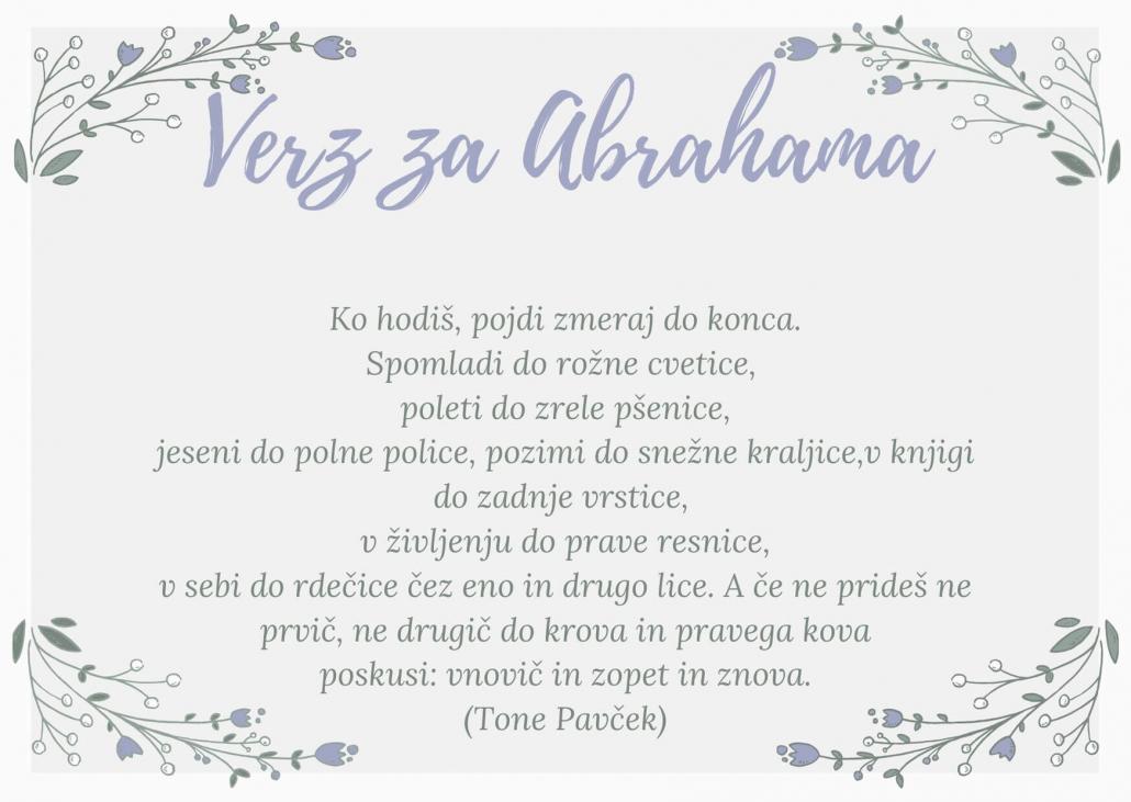 Verz za 50 let pisatelja Toneta Pavčka