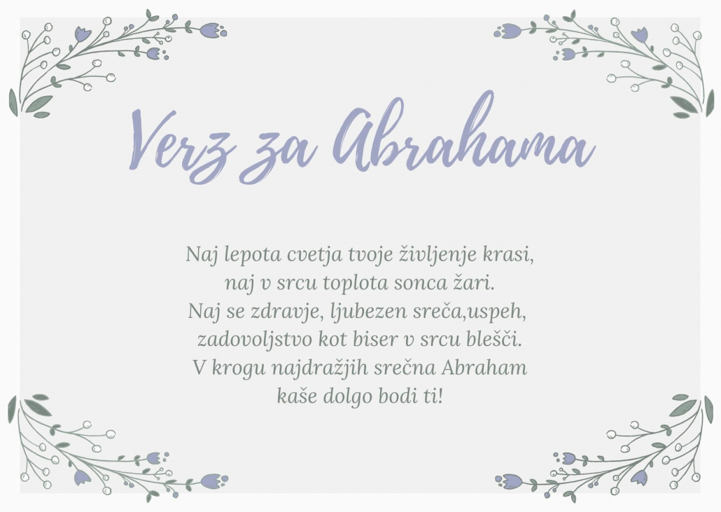 verz za Abrahama