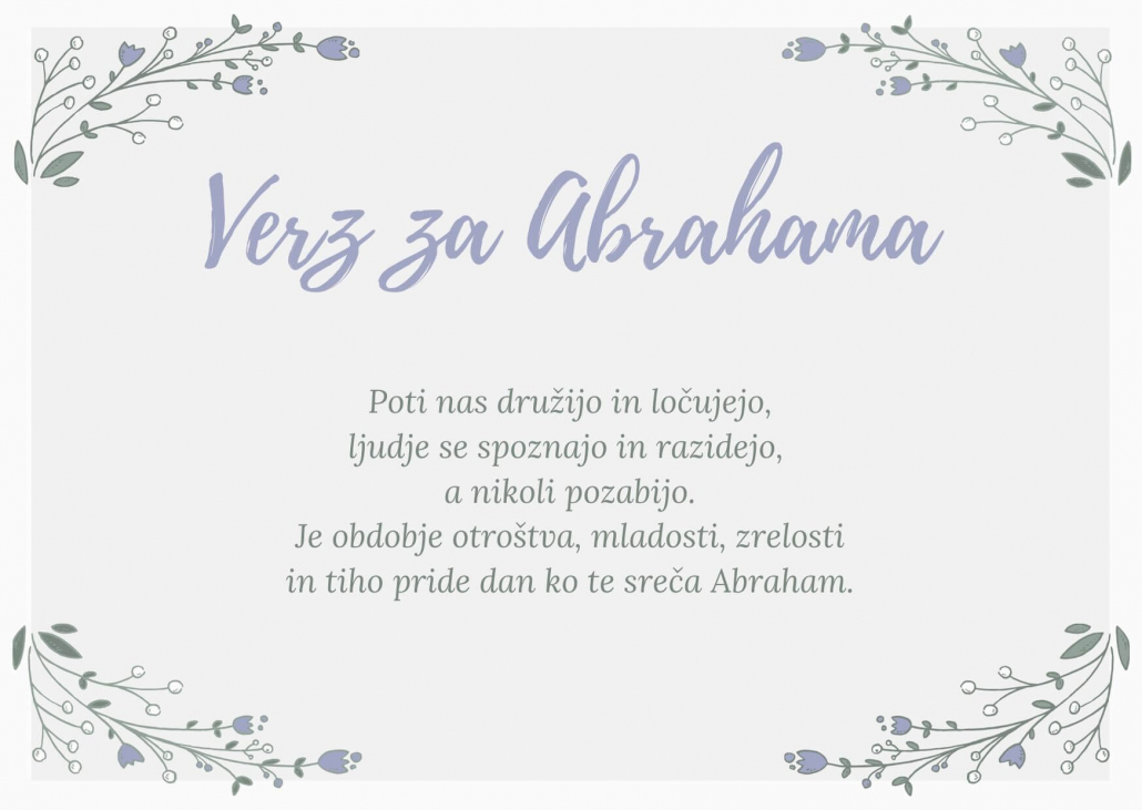 kratki verz za Abrahama